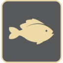 Flat Fish Icon