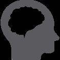 Glyph Human Brain Icon
