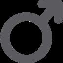 Glyph Male Icon