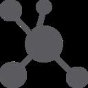 Glyph Molecule Icon