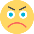 Flat Angry Emoticon Icon