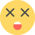 Flat Shocked Emoticon Icon