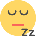 Flat Sleepy Emoticon Icon