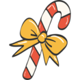 Candy Cane Doodle Icon