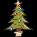 Christmas Tree Doodle Icon