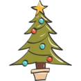 Christmas Tree Doodle Icon