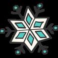 Snowflake Doodle Icon