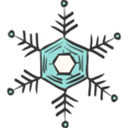 Skinny Snowflake Doodle Icon