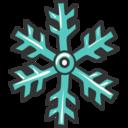 Blue Snowflake Doodle Icon