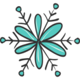 Pretty Snowflake Doodle Icon