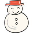 Snowman Doodle Icon