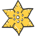 Christmas Star Doodle Icon