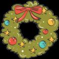 Christmas Wreath Doodle Icon