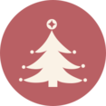 Christmas Tree with Ornaments Icon