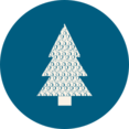 Retro Christmas Tree Icon