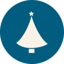 Flaired Christmas Tree Icon