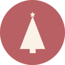 Triangle Christmas Tree Icon