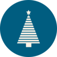 Christmas Tree with Lines Icon