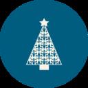 Christmas Tree Fleur de Lis Icon