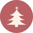 Vintage Christmas Tree Icon