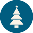 Layered Christmas Tree Icon