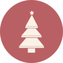 Narrow Layered Christmas Tree Icon