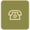 Flat Telephone Icon