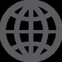 Glyph Globe Icon