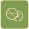 Flat Lemon Slice Icon