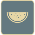 Flat Watermelon Icon