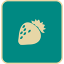 Flat Strawberry Icon