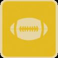 Flat Football Icon