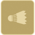 Flat Shuttlecock Icon