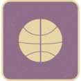 Flat Basketball Icon