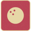 Flat Bowling Ball Icon