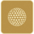 Flat Golf Ball Icon