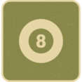 Flat Eight Ball Icon