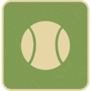 Flat Tennis Ball Icon