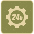 Flat 24 Hour Icon