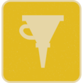 Flat Oil Filter Icon