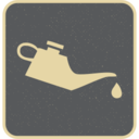 Flat Oil Can Icon
