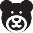 Glyph Teddy Bear Icon