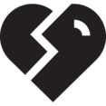 Glyph Broken Heart Icon