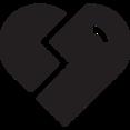 Glyph Broken Heart Icon