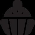 Glyph Cupcake Icon