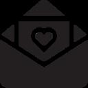 Glyph Love Letter Icon
