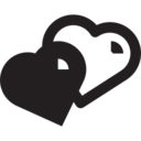 Glyph Hearts Icon