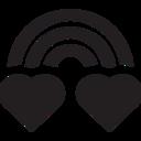 Glyph Rainbow Icon