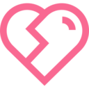 Outline Broken Heart Icon