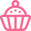 Outline Cupcake Icon